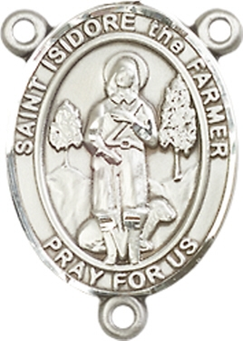 St  Isidore the Farmer Pewter Rosary Centerpiece - The Inspiring Catholic  Store